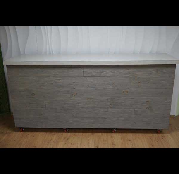 Party Perfect Rentals - Gray Washed Barnwood Bar