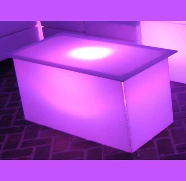 Party Perfect Rentals - LED Coffee Table